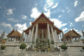 Thai majestic Ben temple and blue sky — Stock Photo