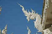 Lanna style Naga sculture at White Temple Northern Thailand unde — Stock Photo