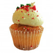 Mini Christmas Cup Cake Side Persepctive — Stock Photo