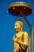 Golden buddha in Lamphun,Thailand — Stock Photo