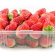 Stock Photo: Fresh strawberries on a white background