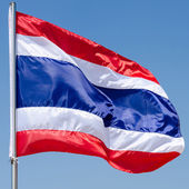 Thailand flag with nice sky on flagstaff — Stock Photo