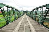 Historical bridge over the pai river in Mae hong son, Thailand — Stock Photo