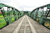 Historical bridge over the pai river in Mae hong son, Thailand — Stock Photo