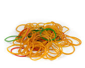 Rubber bands isolated on white background. — Stock Photo