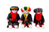 The Karen tribes dolls isolated on white background — Stock Photo