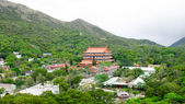 Po Lin Monastery, where Big Buddha is located, is a Buddhist monastery, located on Ngong Ping Plateau, on Lantau Island, Hong Kong — Stock Photo