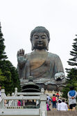 HONG KONG, MARCH 28, Tian Tan Buddha, also known as the Big Buddha, is a large bronze statue of a Buddha located at Ngong Ping, Lantau Island, in Hong Kong on 28 March 2014. — Stock Photo