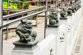 A statue of chinese imperial Lion around Wong Tai Sin temple — Stock Photo