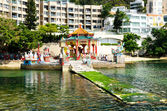 Chinese pavilion in Kwan Yin Temple on Repulse Bay, Hong Kong — Stock Photo