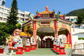 Chinese pavilion in Kwan Yin Temple on Repulse Bay, Hong Kong — Stock Photo