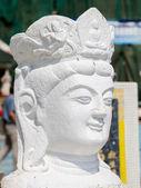 Estátua de branco de guan yin — Fotografia Stock