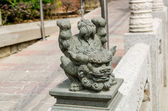 A statue of chinese imperial Lion around Wong Tai Sin temple — 图库照片