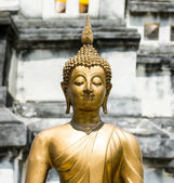 Buddha statue in temple buddhism, sculpture art of asia — Stock Photo