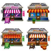Store icon set — Stock Vector