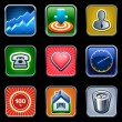Apps and services icons — Stockvectorbeeld