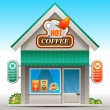 Stock Vector: Coffee shop