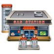 Gas station — Stock Vector