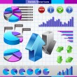 Statistics icons set — Stock Vector
