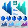 Graphs, charts, business table. — Stock Vector