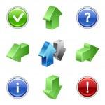 Web button arrow set — Stock Vector