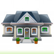 Stock Vector: Family House