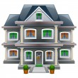 Stock Vector: New single family house