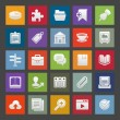 Icon set for web or mobile applications. — Imagens vectoriais em stock