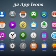 App icons — Stock Vector #35397183