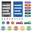 Stock Vector: Web design elements with login form