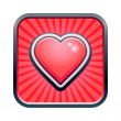 Heart icon — Vettoriali Stock