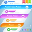 Infographics. Modern soft color design template.  Numbered banne — Векторная иллюстрация
