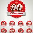 Discount label set — Image vectorielle