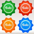 Sale stickers set. — Stock Vector