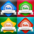 Sale icon set — Stock Vector