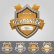 Brown guarantee shield — Stock Vector