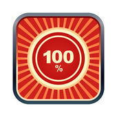 100 percent icon — Stock Vector