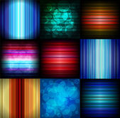 Abstract glowing backgrounds — Stock Vector