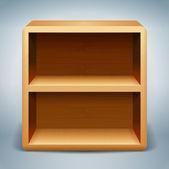 Regały drewniane tła — Wektor stockowy