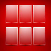 Empty vector glass boxes — Stock Vector