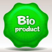 Bio sticker — Stock Vector