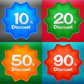 Discount label set — Stock Vector