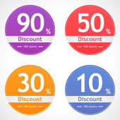 Discount labels — Stock Vector