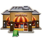 Fast food restaurant — Stock Vector