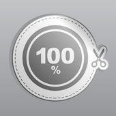 Sticker 100 percent icon — Stock Vector