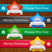 Holydays sale stickers — Stock Vector