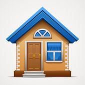 白色背景上孤立的房子图标 — 图库矢量图片