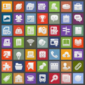Icons For Web and Mobile — Stock Vector