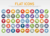 Flat icons — Stockvector