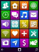 Icons for web, smartphone and pocket pc — Stock Vector